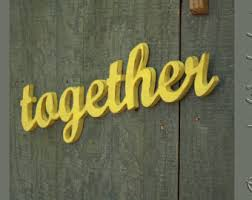 together sign etsy