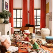 Curtain Color For Orange Walls Inspiration Lavish Midcentury Living Areas Decors With Fireplace Plants Decors