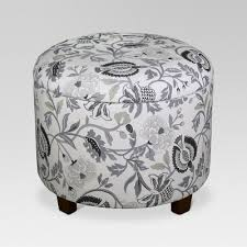 Floral Ottoman Trappe Medium Ottoman With Storage Gray Floral Threshold