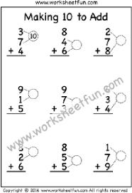 making 10 to add u2013 one worksheet ways to make a number