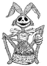 jack skellington coloring page free download