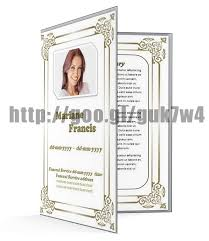 obituary program templates memberpro co