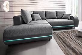 sofa mit led beleuchtung polsterecke inklusive rgb led beleuchtung kaufen otto