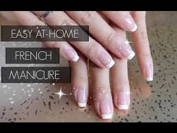easy diy french manicure l nail polish only youtube