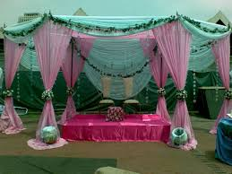 green and wedding decorations decorating party