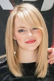 lob hair with side fringe photos medium length lob with bangs black hairstle picture