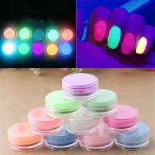 new random neon colors phosphorescent fluorescent nail art powder