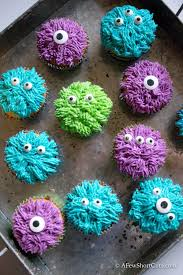 simple monster cupcakes a few shortcuts
