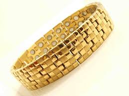 magnetic gold bracelet images Chunky ultimate 40 magnets bio magnetic bracelet gold design jpg