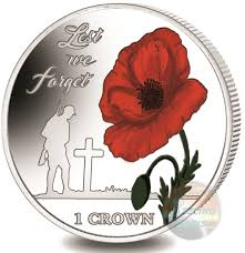 lest we forget 35th ann of the falklands liberation 2017 colored coin