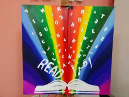 kids room painting u2013 u201crainbow of knowledge u201d missy art blog