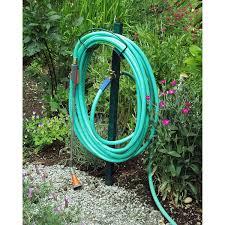 Hose Reel Solution For Yard And Garden Outdoor Faucet Extension Amazon Com Yard Butler Hcf 3 Free Standing Garden Hose Hanger