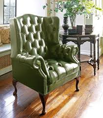 Green Chesterfield Armchair Chesterfield Armchair Leather Wing Hamilton Fleming U0026 Howland