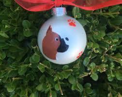 boxer dog xmas boxer ornament etsy
