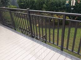cost of deck railings in vancouver wood aluminum glass and