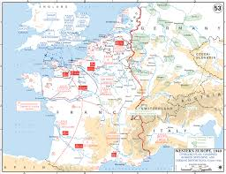 Ww2 Europe Map by Map Of Operation Overlord 1944