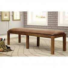 Industrial Style Bench Gianna Transitional Style Rustic Pine Finish Dining Table Set