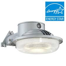 best led dusk to dawn security light envirolite led dusk to dawn single head gray outdoor flood light
