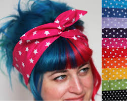 80 s headbands print wired bow headband choice of colours basil s