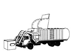 drawing garbage truck coloring pages drawing garbage truck