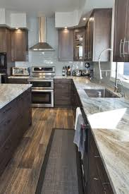 brown kitchen cabinets with backsplash 75 beautiful kitchen with brown cabinets and gray backsplash
