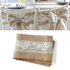burlap chair sashes beige wedding decor