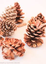 table decorations with pine cones simple nature decor