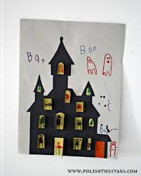 haunted house cut out did this for halloween craft party 2012 it
