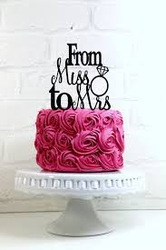 wedding cake m s from miss to mrs wedding cake topper or sign with diamond ring
