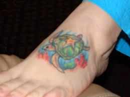 gorgeous turtle tattoo designs on feet tattoomagz