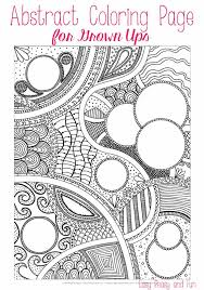 free abstract coloring adults easy peasy fun