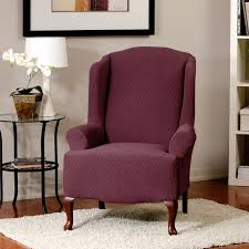 slipcover wing chair surefit stretch wing chair slipcover walmart canada