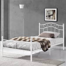 In Casa Schlafzimmer Preise En Casa Metallbett 90x200 Weiß Bettgestell Bett Jugendbett Metall