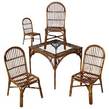 five piece stick wicker dining set room set dining sets and
