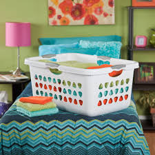 sterilite wheeled laundry hamper sterilite 71 liter ultra white laundry basket walmart canada