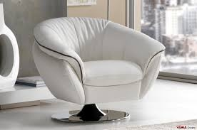 Leather Swivel Armchairs Contemporary Swivel Leather Armchair With Chrome Steel Base