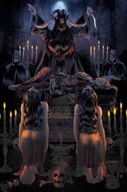 137 best altars images on pinterest altars magick and witchcraft satanic altar i posted this before here but this is a more color version of