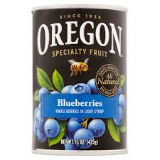 oregon fruit all natural blueberries in light syrup 15 oz can