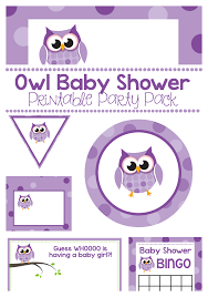 purple owl baby shower decorations purple owl baby shower printable pack projects