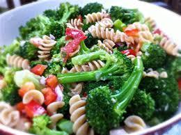 broccoli pasta salad eating in instead