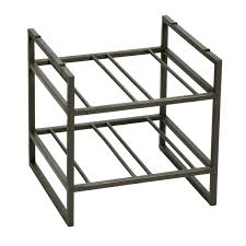 stackable wine rack iron stackable wine racks the container store