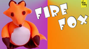 how to make fire fox with clay clay projects for kids clay