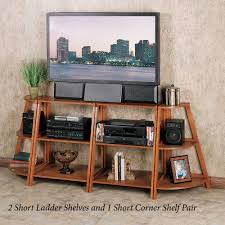 mission corner desk kimber red oak corner and ladder shelves