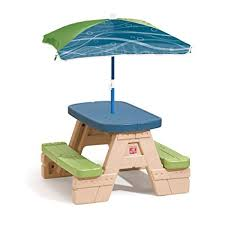 fisher price childrens picnic table amazon com step2 sit and play kids picnic table with umbrella toys