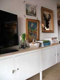 Under Kitchen Cabinet Tv Ikea Ps Cabinets With Birch Board On Top My Ikea Goodies