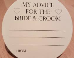 my advice for the and groom cards well wishes for the groom advice cards for the