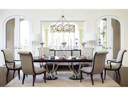 dining room sets with fabric chairs bernhardt miramont 7 piece dining set with double pedestal table