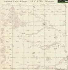 Atlanta County Map Becker County Original Government Survey Maps