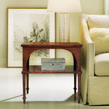 End Table With Shelves by Classical End Table With Shelf Walnut End U0026 Occasional Tables