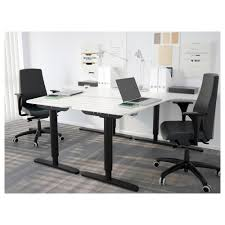 bureau top office bekant left corner table top white 160x110 cm ikea